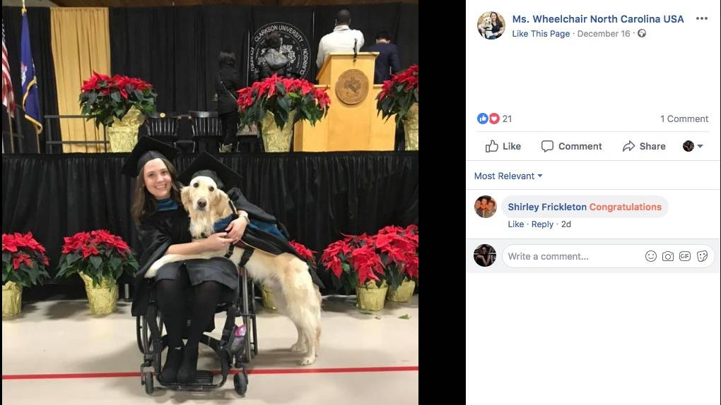 Golden Retriever, Griffin receives honorary degree from the University of his mistress