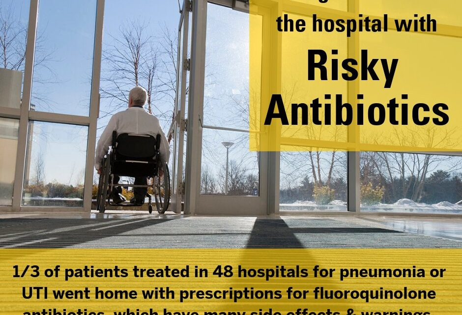 Even as hospitals cut risky antibiotic use in-house, patients often go home with them