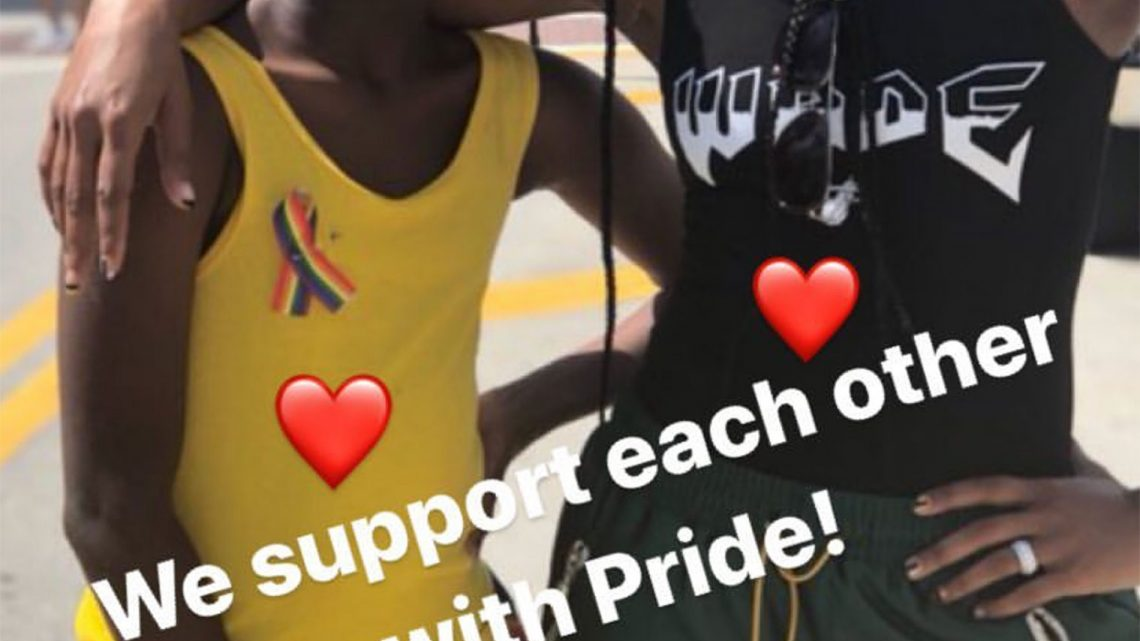 Gabrielle Union Leads 'Cheering Section' for Dwyane Wade's Son Zion at Miami Pride Festival