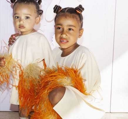 Kim Kardashian Posts Sweet Photos of Chicago and North's Matching Looks at True's Birthday