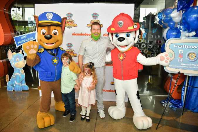 Perez Hilton, Molly Sims and More Pose with Kids at PAW Patrol 'Mighty Pups: Super Paws' Premiere