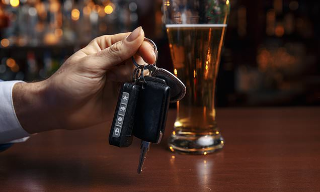 Just ONE pint or glass of wine could make you unsafe to drive