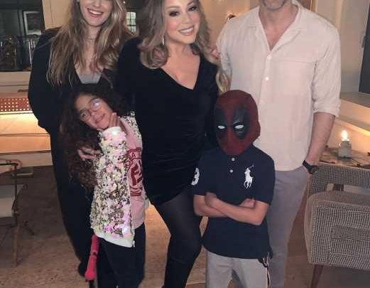 Surprise! Mariah Carey's Son, 8, 'Snuck Up on' Ryan Reynolds and Blake Lively in a Deadpool Mask