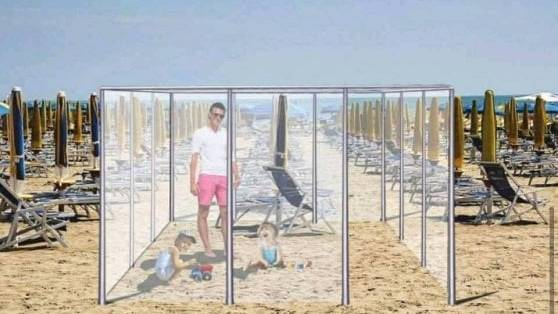 Plexiglas boxes and mask obligation on the beach: As the summer in Italy might look like