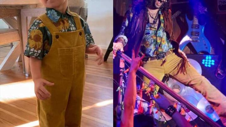Amanda Kloots Shares Sweet Photo of Son Elvis Wearing Late Husband Nick Cordero's Rock of Ages Costume